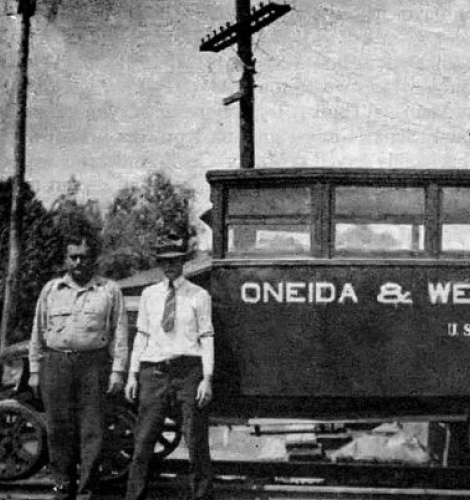 Old black and white photo from FNB Oneida's past.